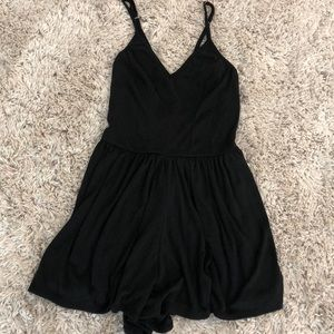 Black romper with strappy back